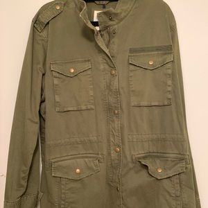 green utility jacket from GAP